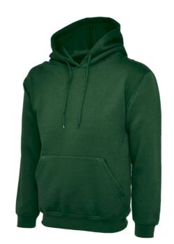 EMBROIDERED GREEN HOODIE